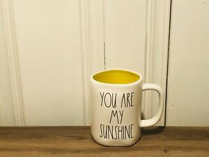 Rae-Dunn-Artisan-Collection-By-Magenta-YOU-ARE-MY-SUNSHINE-Yellow-Interior-Mug