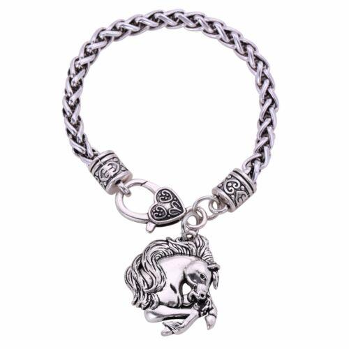 Fashion Little pony Allongé Cheval Animal Charm blé Chaîne Bracelet pour les sports équestres
