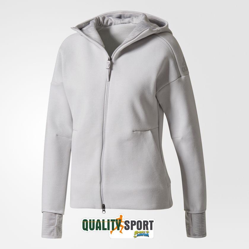 Adidas Hoodie Zne Pulse grau Woman Sweatshirt Zip & Hood Bq0099