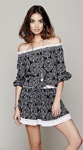 a18f59210b10 NWOT  148 Sunday Romance Off-Shoulder Blouson Mini Dress Free People ...
