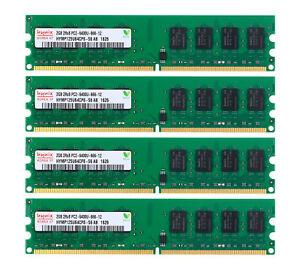 New Hynix 8GB 4X 2GB DDR2 800Mhz PC2-6400U 1.8V CL6 240Pin Dimm Desktop Memory