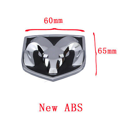 1New ABS Black Hood Head Grill Tailgate Trunk Emblem Badge for Dodge Ram 60*65mm