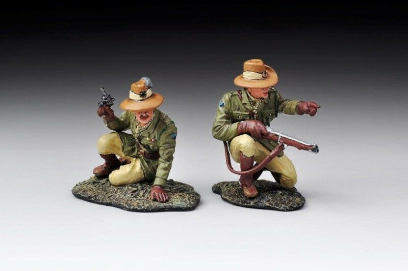 THOMAS GUNN ALH001 - Australian LH Officer Command Set WW1 Painted Diecast Metal