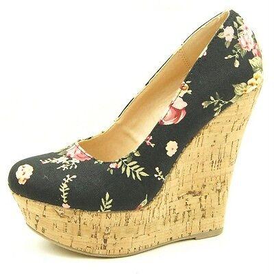 Cork Wedge Heel Fabric Women's Shoes, Platforms 5.5-10US/36-41EU/3.5-8AU