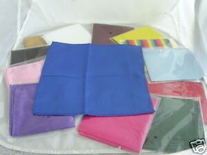 Any-TOP-Pocket-Polyester-Hankie-9-x-9-23cm-x-23cm-Squares-P-P-2UK-1st-Class