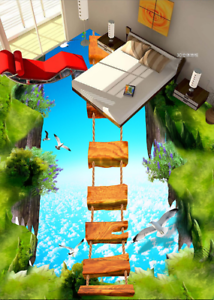 3D Sky Bird Cliff Bridge 78 Floor WallPaper Murals Wall Print Decal AJ WALLPAPER