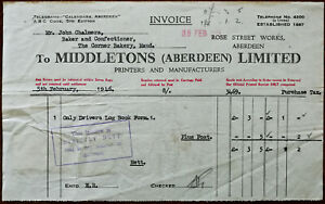 Middletons-Aberdeen-Ltd-Printers-Rose-Street-Works-Aberdeen-Billhead-1946