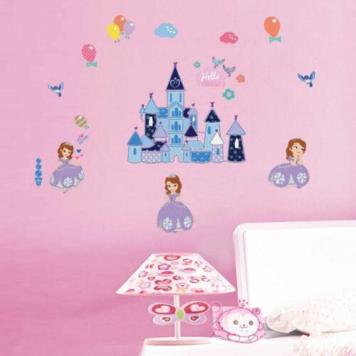 Sophia Princess Castle Removable Wall Art Sticker Vinyl Decal Girl Nursery Decor
