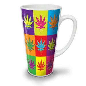 Weed-Cannabis-Foglia-Rasta-NUOVO-White-Tea-Tazza-Da-Caffe-Latte-Macchiato-12-17-OZ-wellcoda