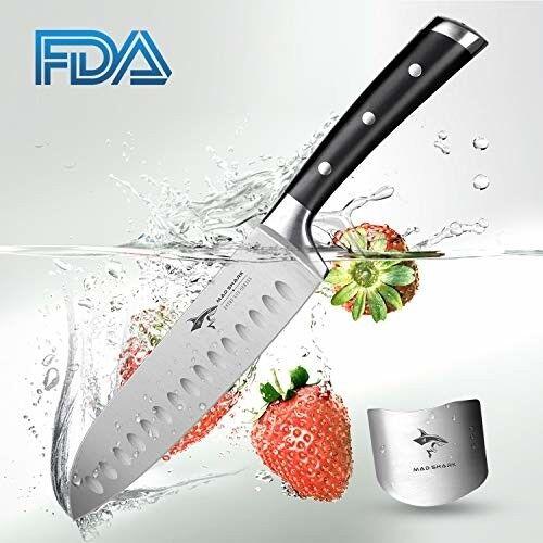 Santoku Knife Mad Shark Pro Kitchen Knives 7 Inch Chef S Knife Best Quality G