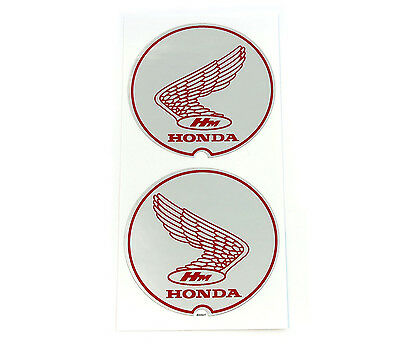 "Honda 1967-1968 P50 ""Little Honda"" Wing Frame Decal Set - Silver Decals - L & R"