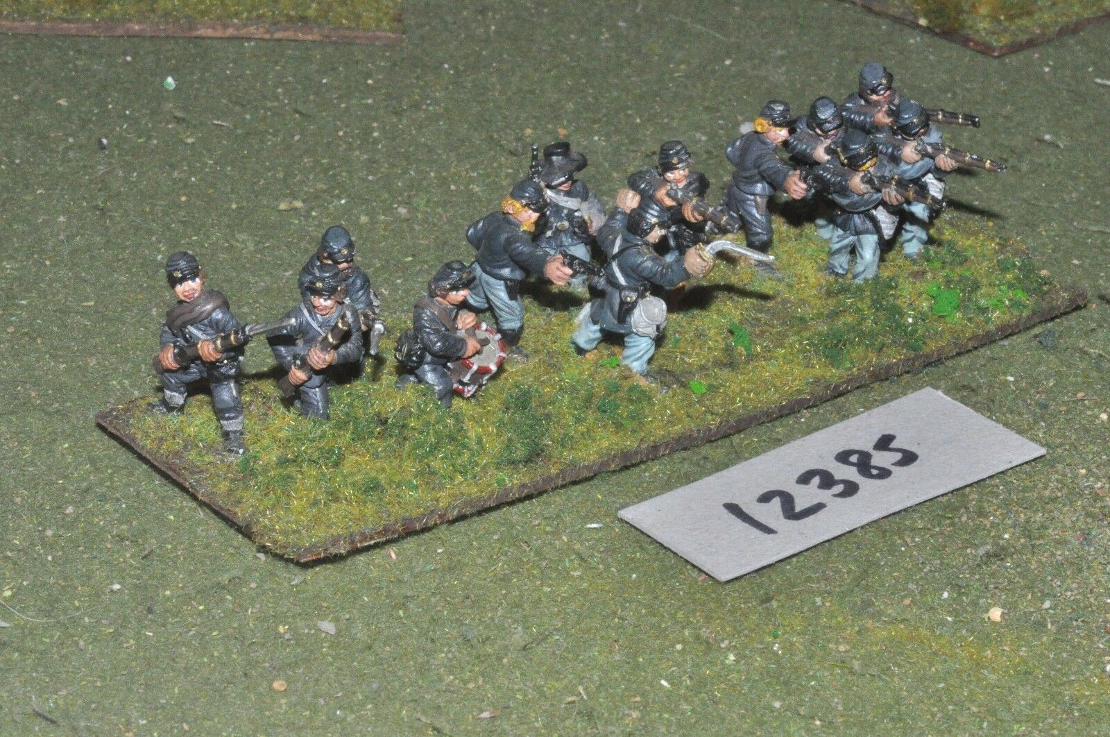 25mm ACW   union - american civil war infantry 13 figures - inf (12385)