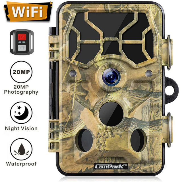 20MP WiFi Trail Camera Campark 1296P Hunting Game Wildlife Camera Night Vision