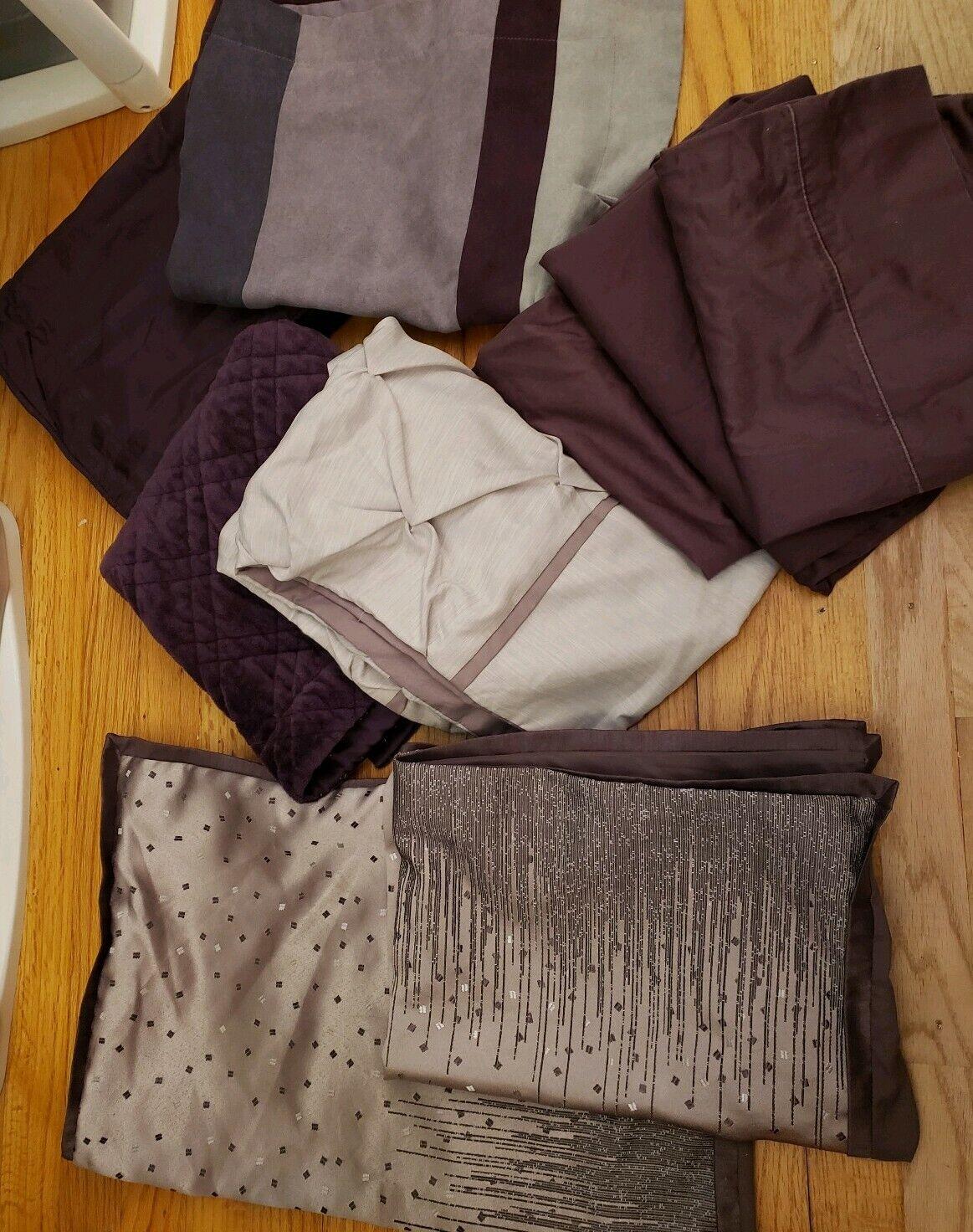 9 JLO JENNIFER LOPEZ Pillowcases King Größed,600 TC Egyptian Cotton Plum lila