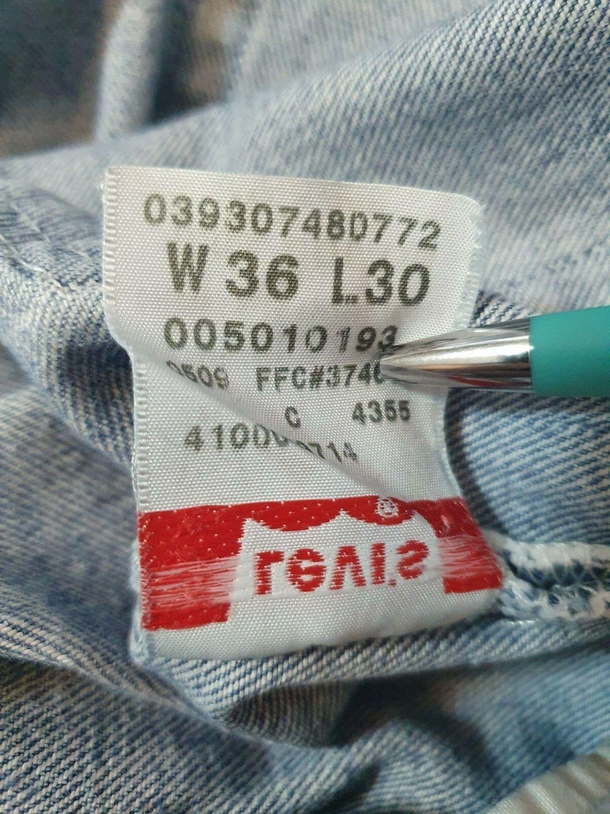 Vintage  Levis 501 XX Jeans Mens 36x30 Distressed… - image 11