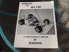 Vintage 1979 Associated RC12E rc12 1 Page Brochure W/Dealer Parts Order List