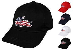 6f3be89d Lacoste Men's American Flag Croc Adjustable Strap Cap RK6263 ...