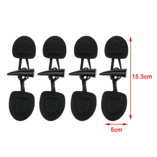 4 Pairs PU Leather and Horn Toggle Closure for Clothes Coat Duffle Decor