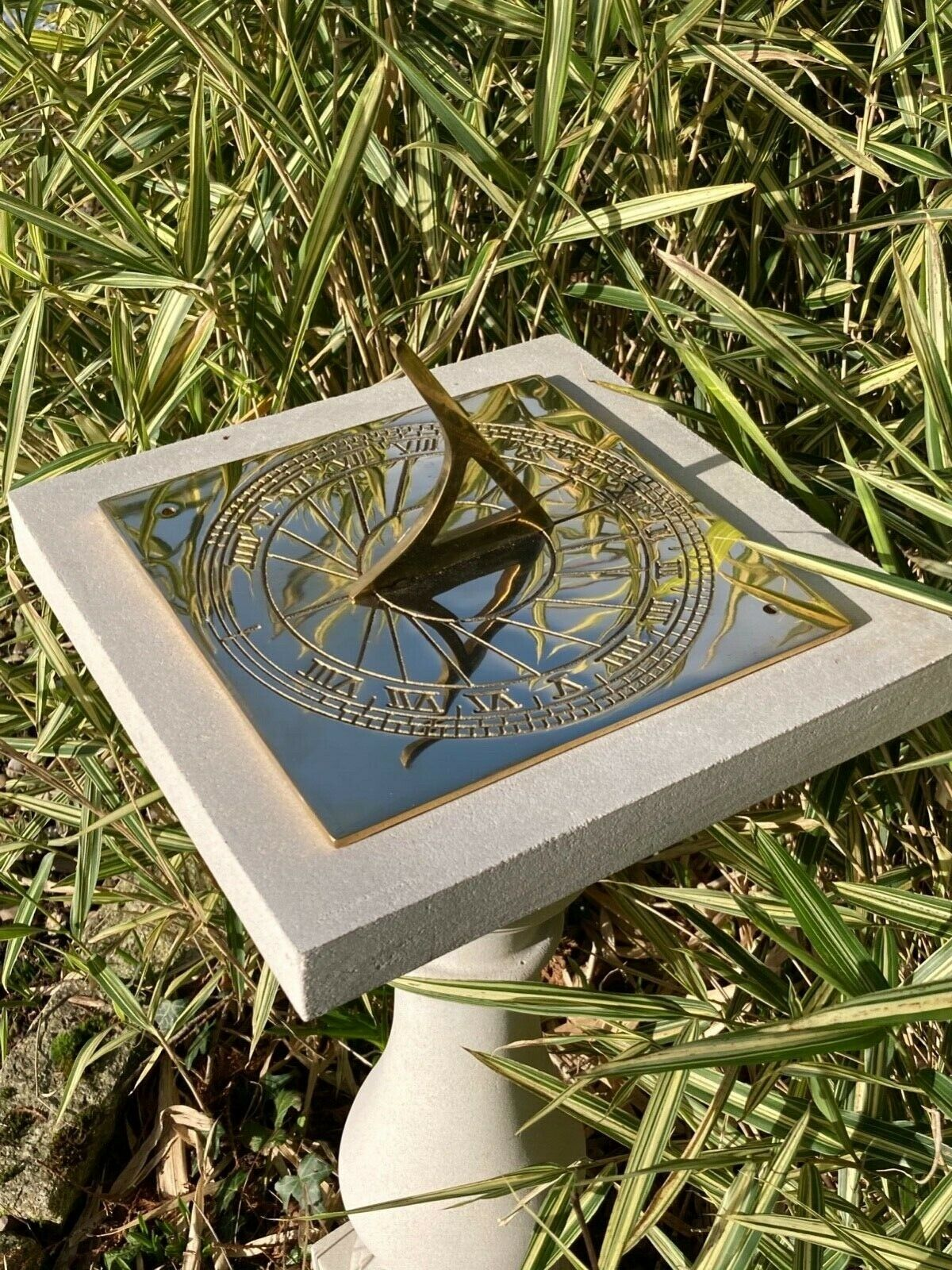 New Solid Brass Large Square Sundial Plate - Perfect For Fathers Day