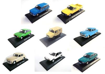 Set of 6 Dacia 1:43 Diecast Model Car LBA1