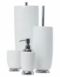 Image Is Loading New Heritage Charmaine Bathroom Accessories White