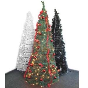 weihnachtsbaum tannenbaum 1 8m komplett mit lichterkette. Black Bedroom Furniture Sets. Home Design Ideas
