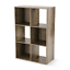 thumbnail 1 - Stylish Accented 6 Cube Storage Organizer, Rustic Brown or Canyon Walnut