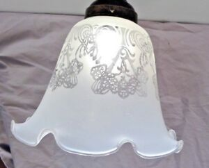Etched Lamp Glass Shade Fixture Replacement Ceiling Fan