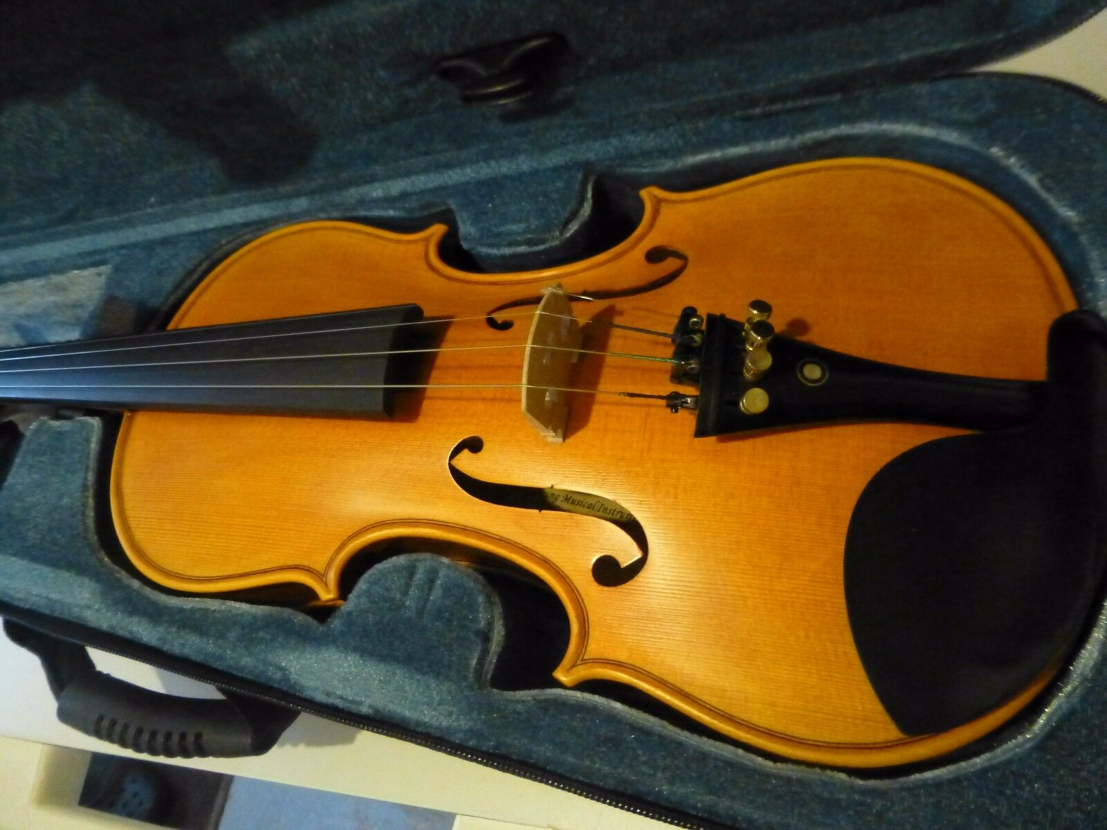 Neu Handgefertigt Violine,Stradivarius Kopie, Ebenholz Zubehör, Versandt aus UK