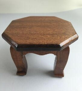 Mini Red Wood Altar Square Shrine Table Handmade Decor Collectible Gift Antique