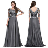 Formal Long LACE Women Evening Party Cocktail Maxi Wedding Ball Gown Prom Dress