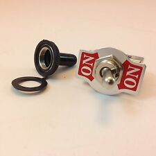 TOGGLE SWITCH ON/ON DPDT 6P SPADE TERM w/BLK RUBBER COVER 20A  #661905/665001