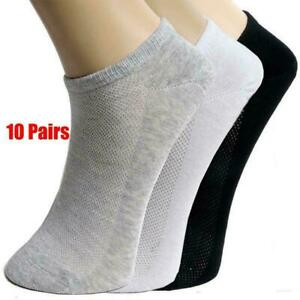 10Pairs-Men-Ankle-Socks-Summer-Low-Cut-Crew-Casual-Sport-Cotton-Blend-Socks-Soft