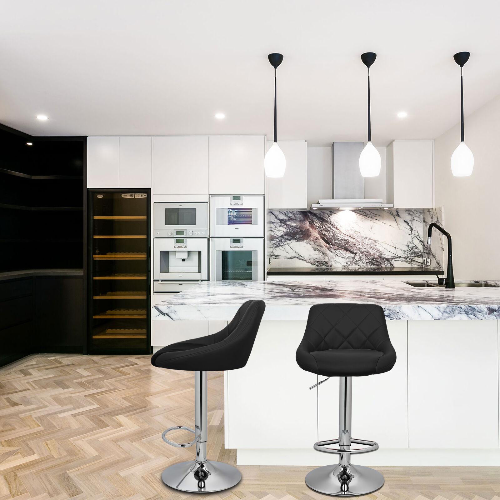 2017 Model Microfiber Black Bar Stool Chair Adjustable