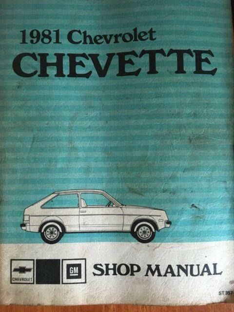 1981 Chevette Factory Shop Service Repair Manual Original