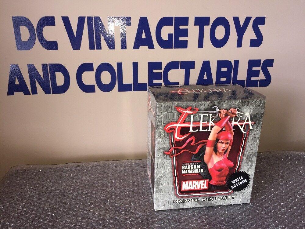 Marvel Mini Bust 7 inch Elektra Bowen Daredevil Of 600 White Costume Rare