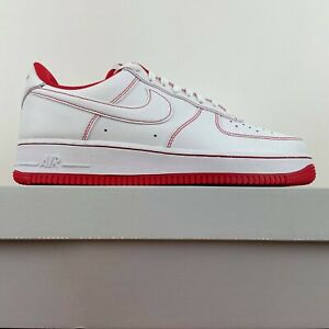Details about Nike Air Force 1 07 Contrast Stitch White University Red CV1724-100 Men Size 8.5