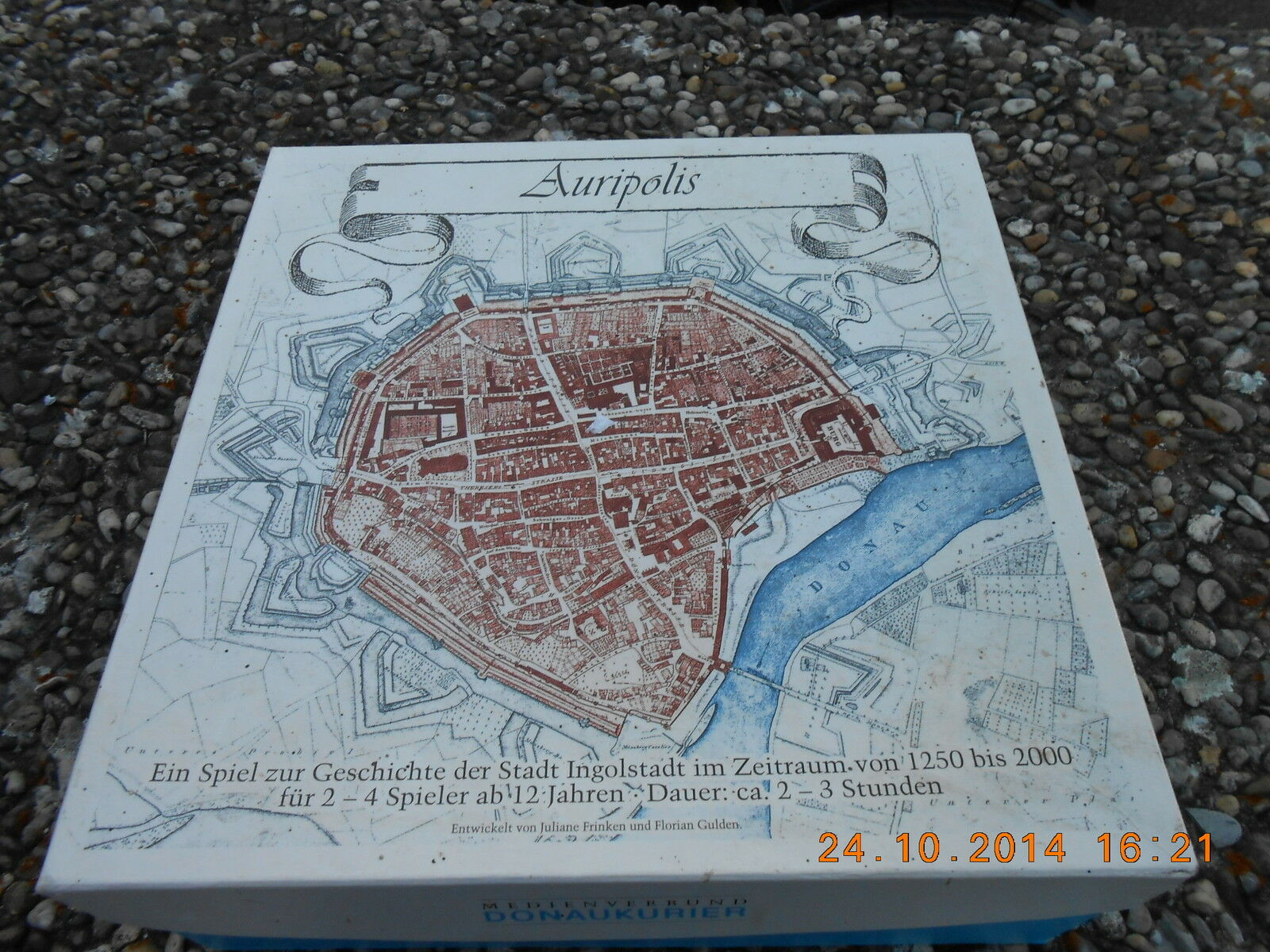 Brett Gesellschafts  Spiel --  AURIPOLIS-- von Donaukurier Ingolstadt Strategie