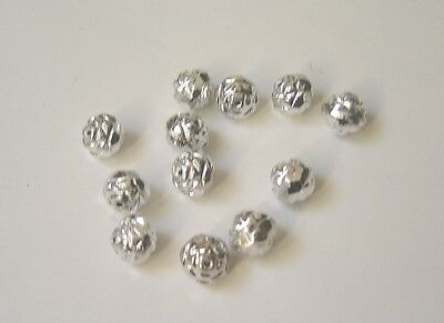 Czech's Rosebud Firepolish Silver beads 7X8 mm (20 pcs)