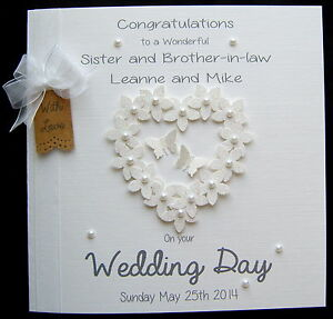 Image Is Loading Large Personalised Wedding Day Engagement Congratulations Flowerheart Card