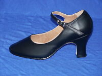 Bloch Black Leather Character Shoe S0386l Chord