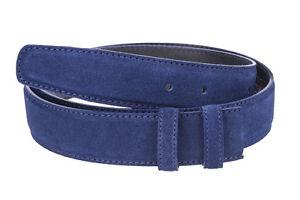 "Suede belts strap Blue navy Genuine leather ferragamo Belt buckles 34 mm SZ 40"""