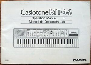 casio mt 46 casiotone keyboard original user s operating owner s rh ebay com casio ctk-496 keyboard user manual casio keyboard ctk 601 user manual