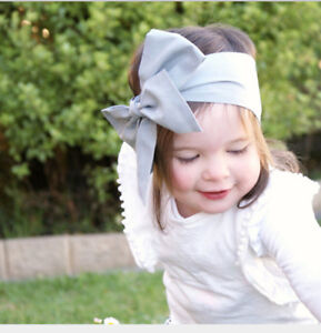 Baby Cotton Big Bow Tie Head Wrap Turban Bowknot Headband Newborn