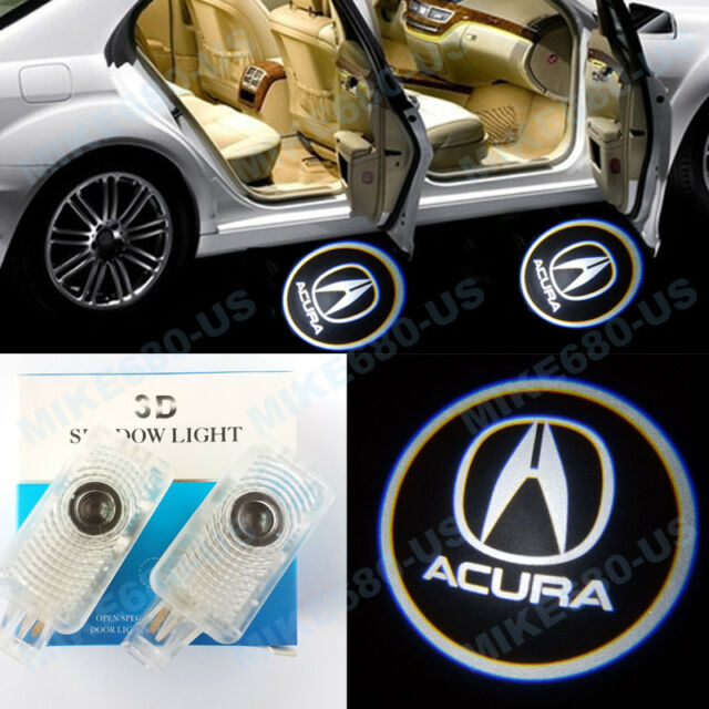2X LED Door Step Courtesy 3D Shadow Laser Lights For Acura