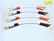NEW QED RUBY ANNIVERSARY EVOLUTION SPEAKER JUMPER CABLES x4 (Two Pairs)