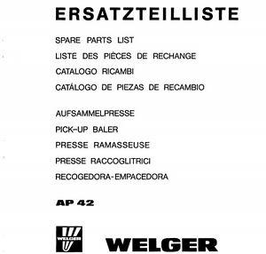 welger ap42 baler parts manual pdf file spare parts list catalogue rh ebay co uk AP-42 Emission Factor Table AP-42 Boiler