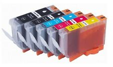 5 x Tinte für Canon PIXMA IP4200 IP4300 IP4500 IP5200 / PGI-5BK CLI-8 Cartridges