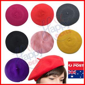 Women-039-s-Ladies-Unisex-Acrylic-Wool-French-Beret-Newsboy-Hat-Cap-Winter-Warm