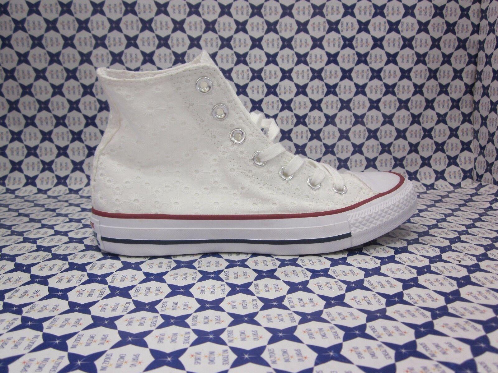 Scarpa Converse Converse Converse All Star Hi Alte Casual --  Bianco Pizzo San Gallo -- 555978 161 3e5c2a